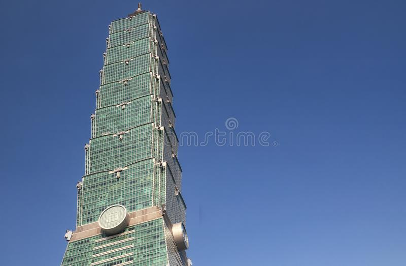 Taipei 101 Taiwán soleado fotografía de archivo