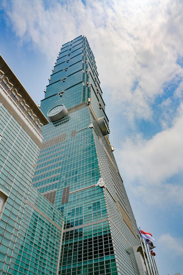 101 taipei taiwan Финансовый центр Тайбэя стоковое фото