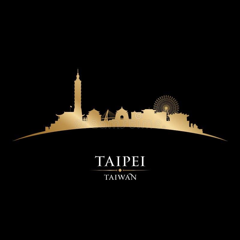 Free Taipei Taiwan City Skyline Silhouette Black Background Stock Images - 113883724