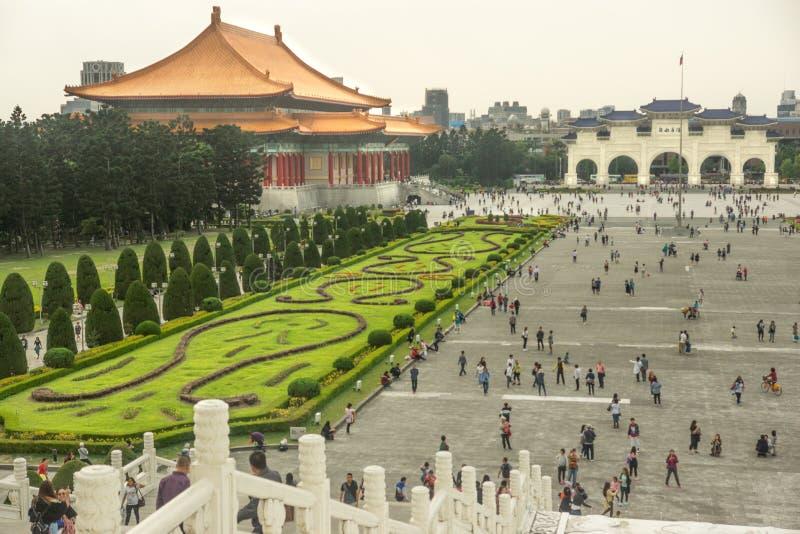 Taipei/Taiwan-25 05 2018: Frihetsfyrkanten i Taipei royaltyfri foto