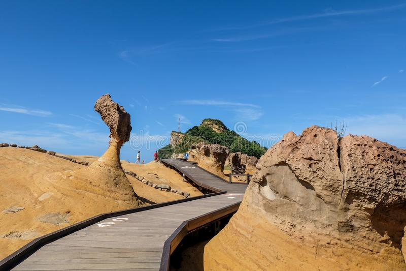 Queen Head Rock in Yehliu Geopark royalty free stock photo