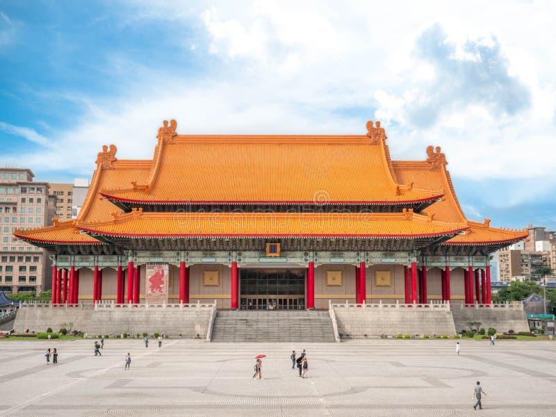 Taipei Taiwan - Maj 13, 2019: Nationell konserthall eller Chaing kaiShek den minnes- korridoren i Taipai, Taiwan arkivbilder