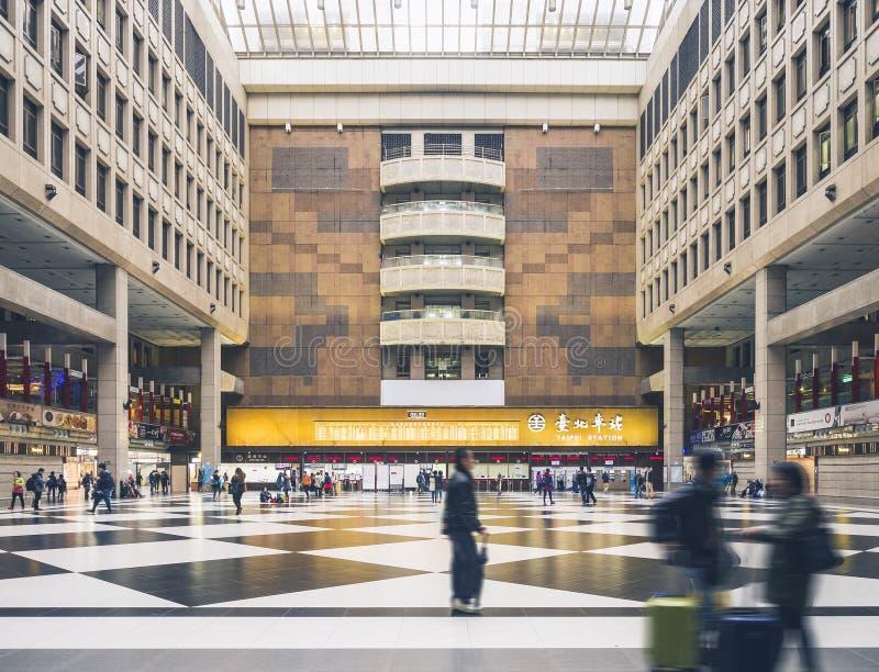 TAIPEI, TAIWAN - March 25, 2015 : Taipei Main station Taiwan Travel stock image