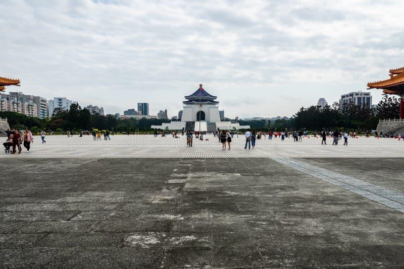 Freedom Square and visitors at Chiang Kai-shek Memorial Hall, Taipei, Taiwan. Taipei, Taiwan - March 2019: view of Freedom Square and visitors at Chiang Kai-shek stock photos