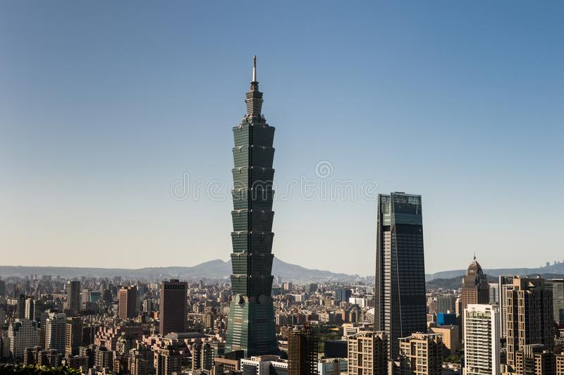 View of Taipei 101 world trade center building royalty free stock photo