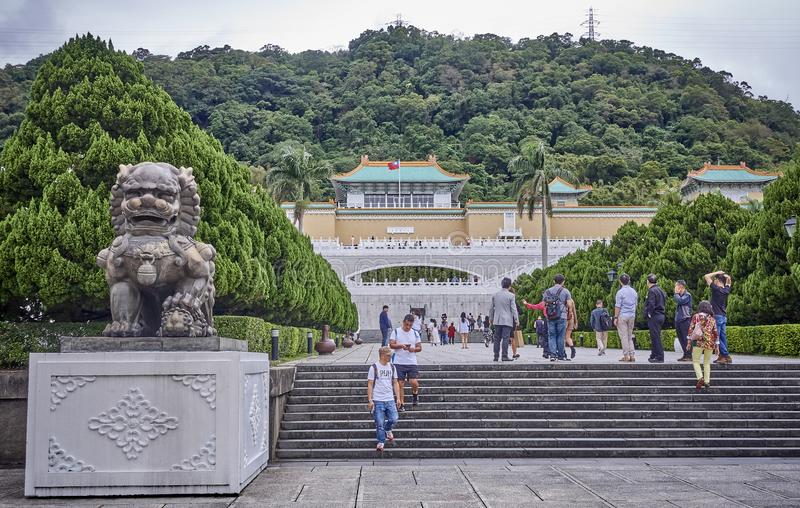 TAIPEI, TAIWAN - NOVEMBER 14, 2017: National Palace Museum on 14 royalty free stock photos