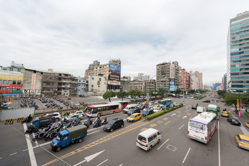 TAIPEI, TAIWAN - NOVEMBER 30, 2016: Taipei Street Traffic. stock photo