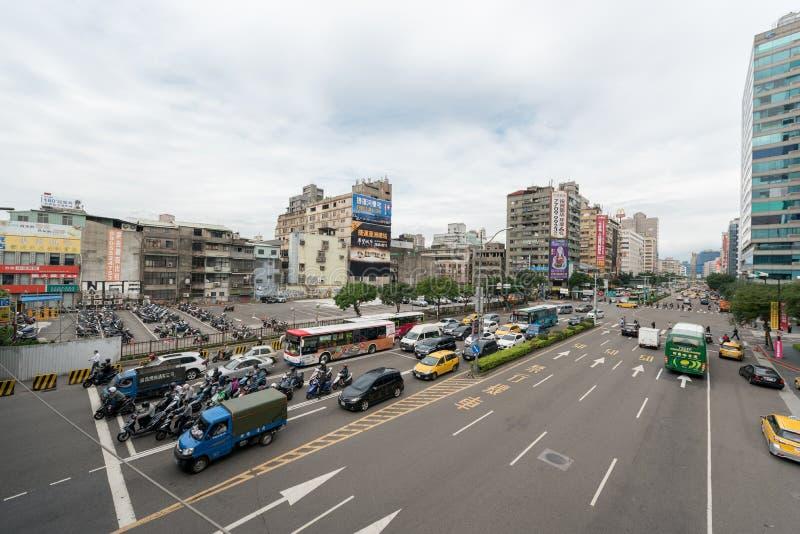 TAIPEI, TAIWAN - NOVEMBER 30, 2016: Taipei Street Traffic. royalty free stock image