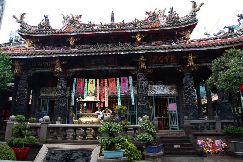 Taipei Taiwan-Oktober 12, 2018: Longshan tempel det mest berömda Iet arkivfoton