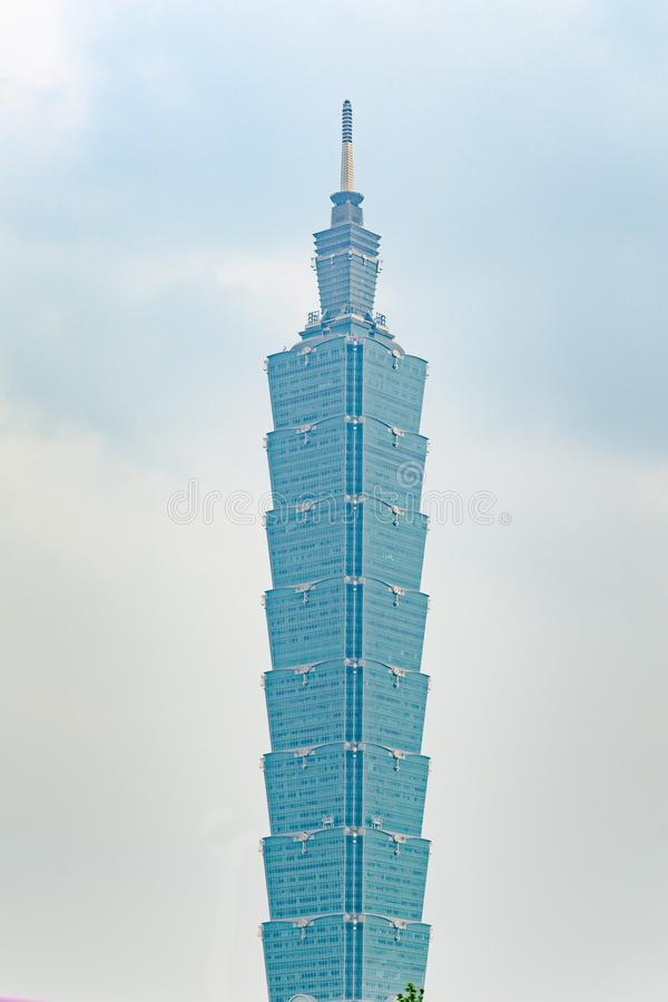 Taipei 101, Taiwan. Taipei Financial Center, the Bamboo Stick royalty free stock photo