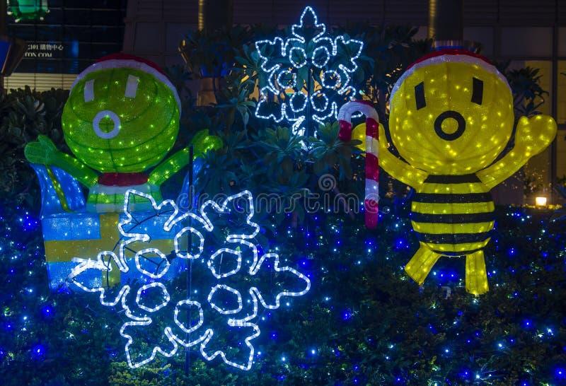 Taipei, Tajwańscy bożonarodzeniowe światła zdjęcia royalty free