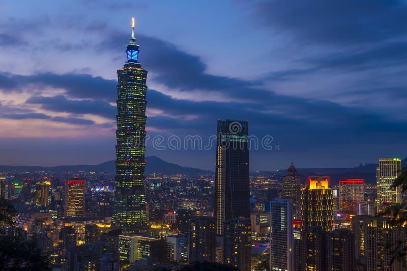 Taipei, Tajwańska linia horyzontu obrazy stock