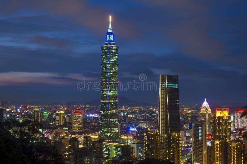 Taipei, Tajwańska linia horyzontu obraz royalty free