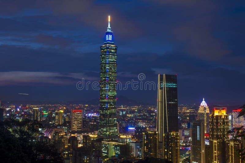 Taipei, Tajwańska linia horyzontu fotografia royalty free
