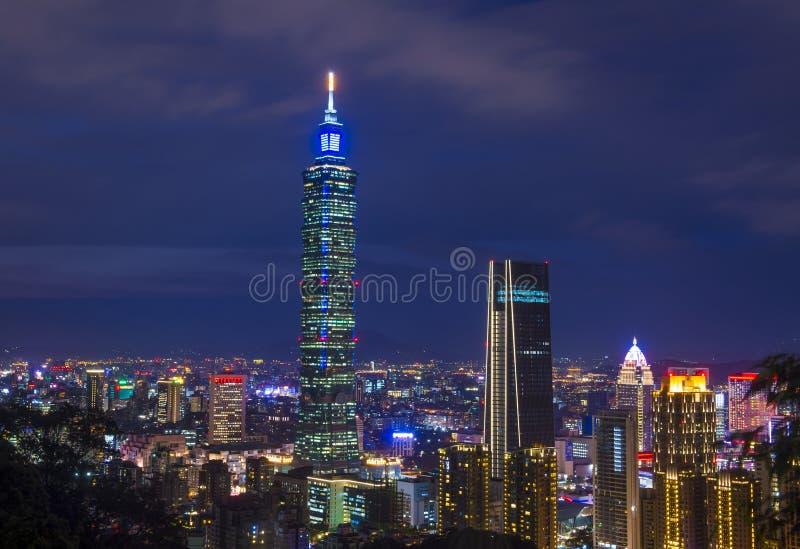 Taipei, Tajwańska linia horyzontu obraz stock