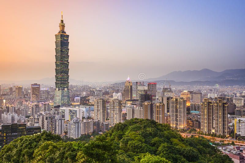 Taipei, Tajwańska linia horyzontu miasto obrazy stock