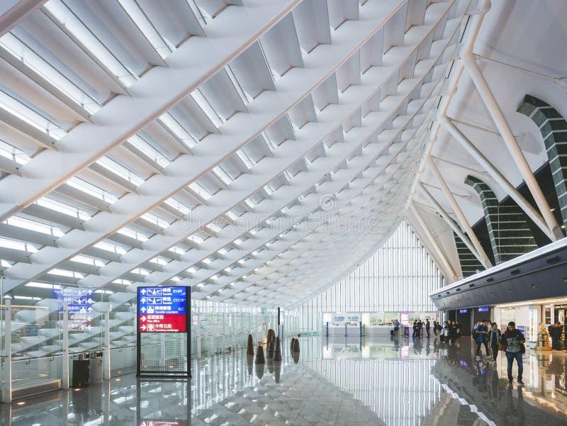 TAIPEI TAJWAN, NOV, - 11, 2017: Tajwański Taoyuan lotnisko międzynarodowe zdjęcia royalty free