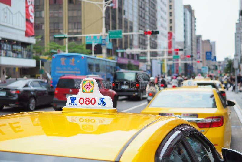 Taipei, Tajwan - ruchu drogowego dżem w centrum Taipei zdjęcia royalty free