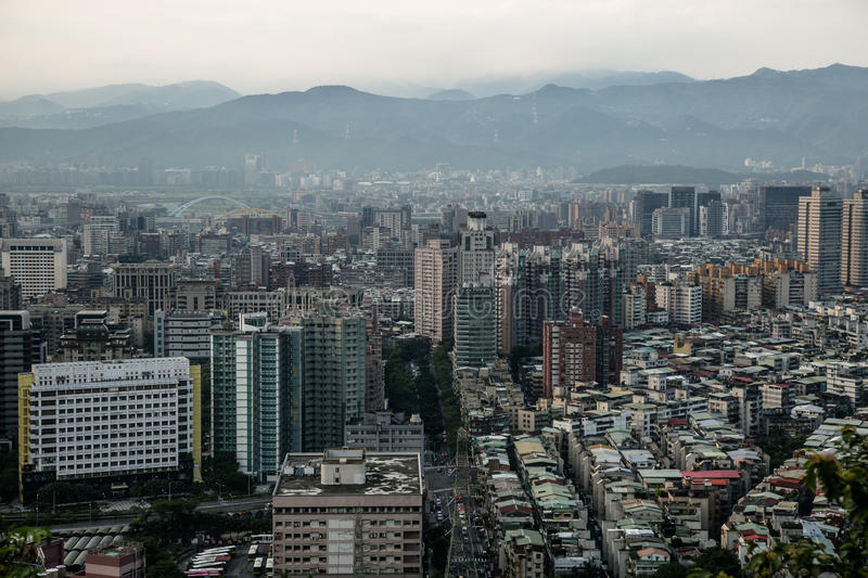 Taipei view from Elephant Mountain #4 stock photography