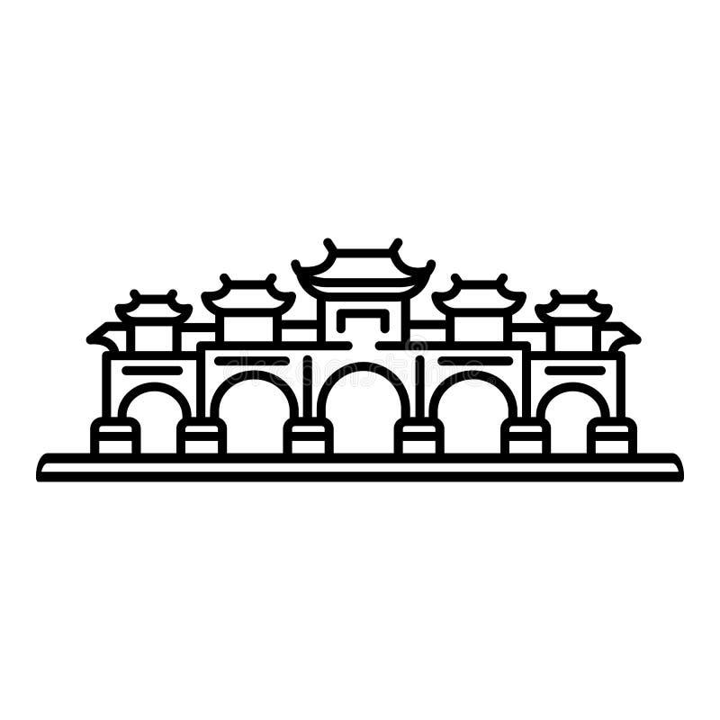 Taipei zakazuje ikonę, konturu styl ilustracja wektor