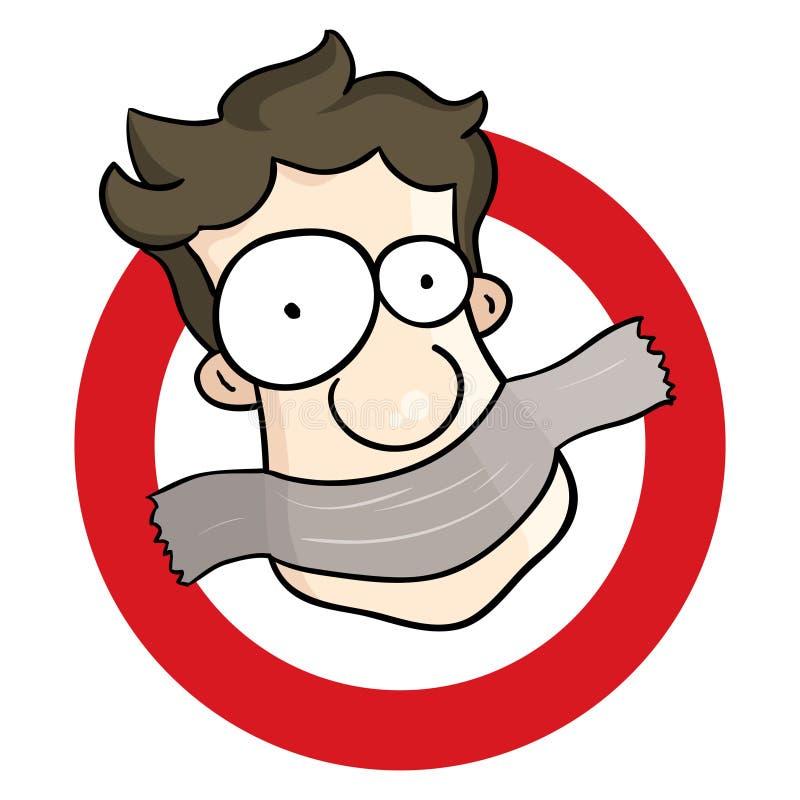 Tais-toi ! illustration stock