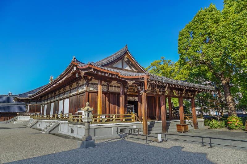 Taisahidenzaal bij Shitennoji-Tempel in Osaka royalty-vrije stock afbeelding