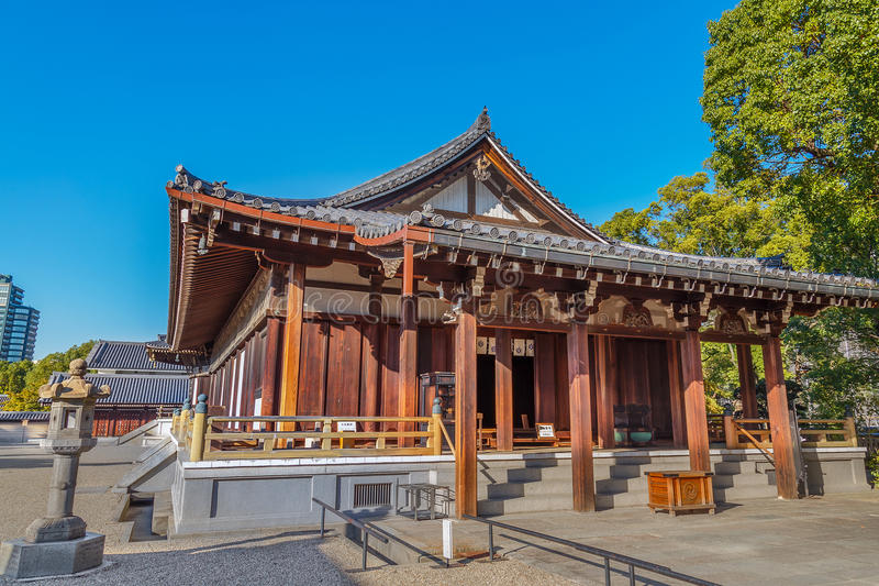 Taisahidenzaal bij Shitennoji-Tempel in Osaka royalty-vrije stock foto's