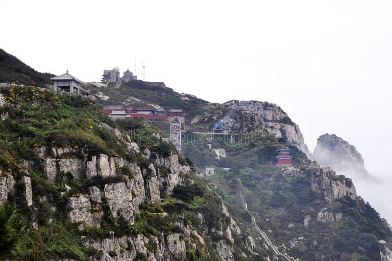 Taishan Berg im Porzellan stockbilder
