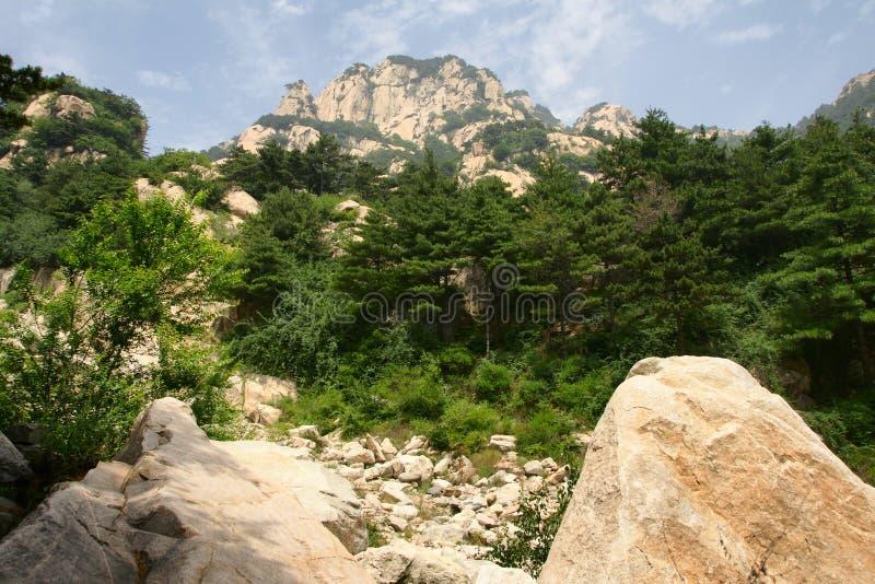 taishan góry sceneria zdjęcia stock