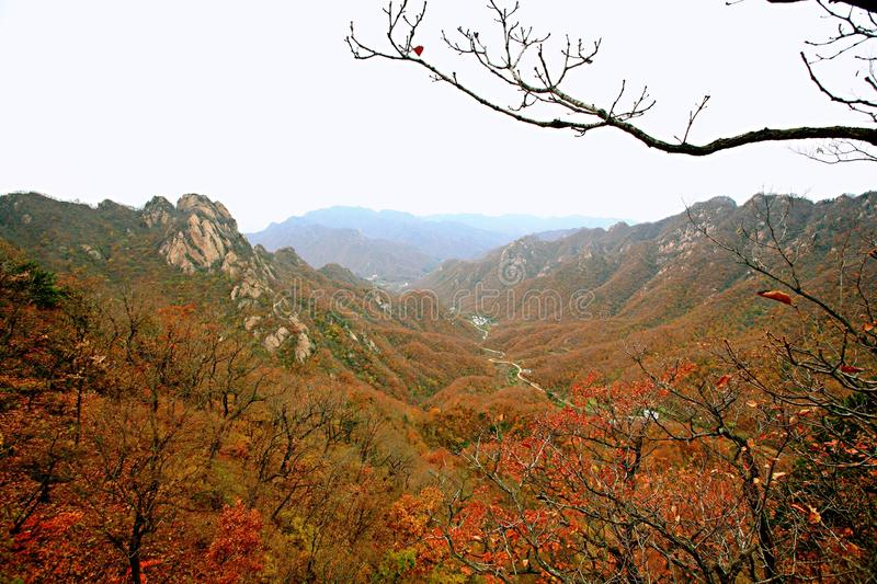 Taishan occidental, Ruyang image stock