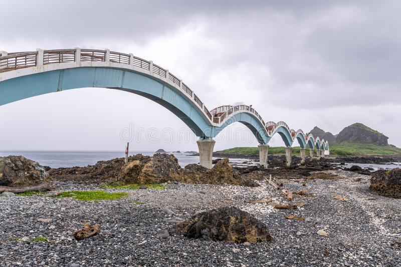 Sanxiantai is located in the north of Chenggong Township in Taitung County. it is compsed of offshore islands and coral reefs. Taitung,Taiwan-August 15,2018 royalty free stock image