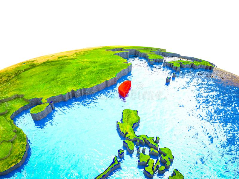 Taiwán en la tierra 3D stock de ilustración