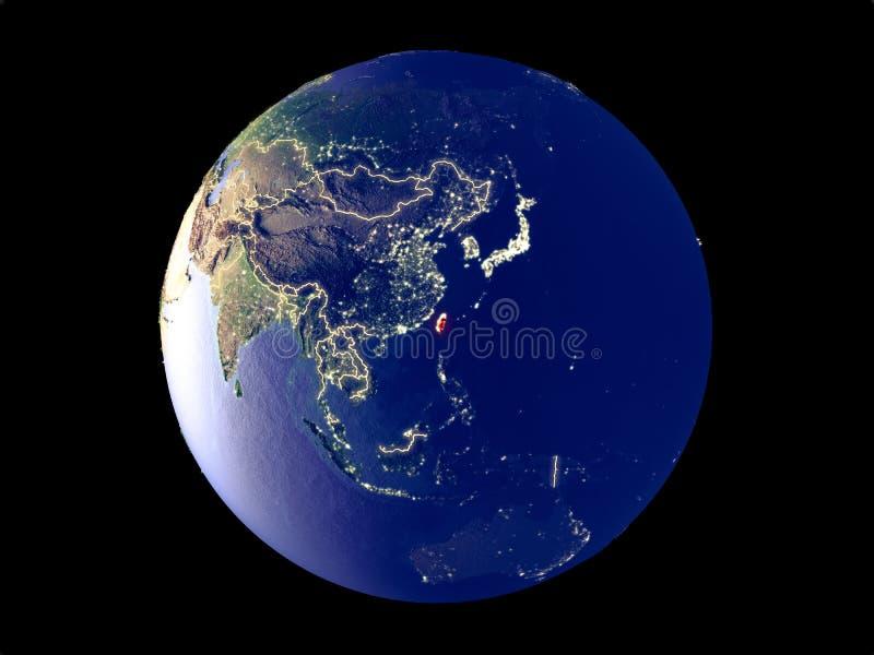 Taiwán en la tierra del espacio libre illustration