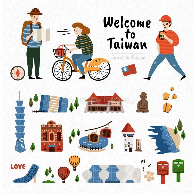 Taiwan-Anziehungskraft-Satz lizenzfreie abbildung