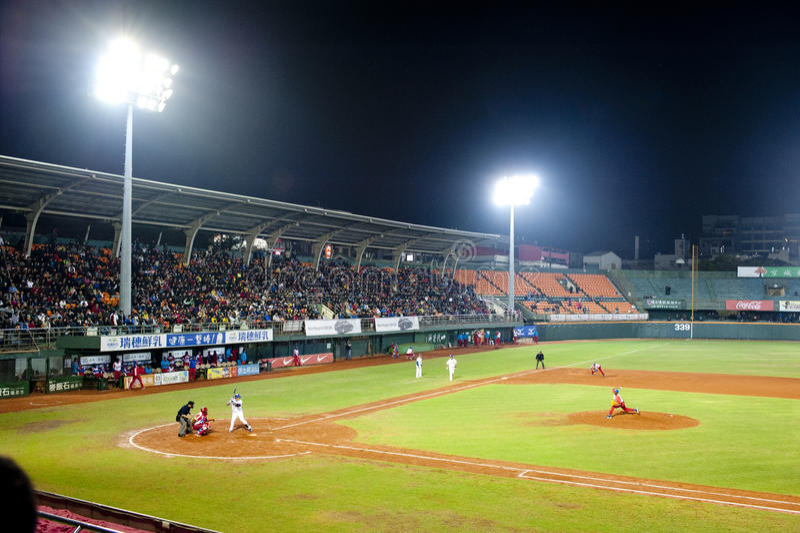 Taiwan baseball fans royalty free stock images