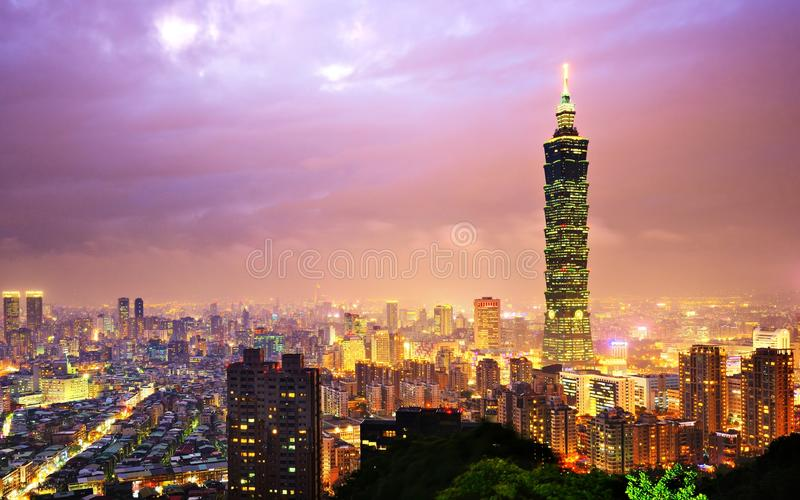 Taiwan Cityscape royaltyfri fotografi
