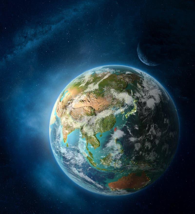 Taiwan do espaço na terra do planeta fotos de stock royalty free