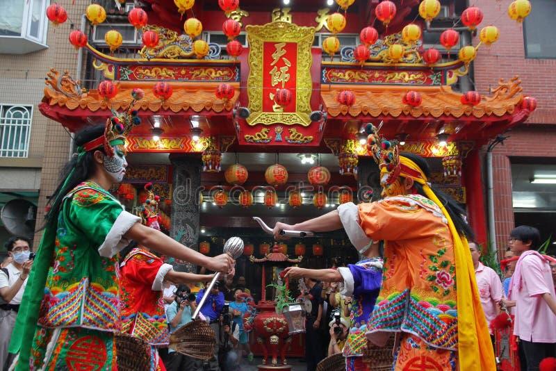 Taiwan föreställningskonst de åtta generalerna royaltyfria bilder