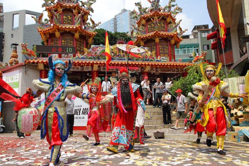 Taiwan föreställningskonst de fem spökarna och Zhong Kui royaltyfri foto