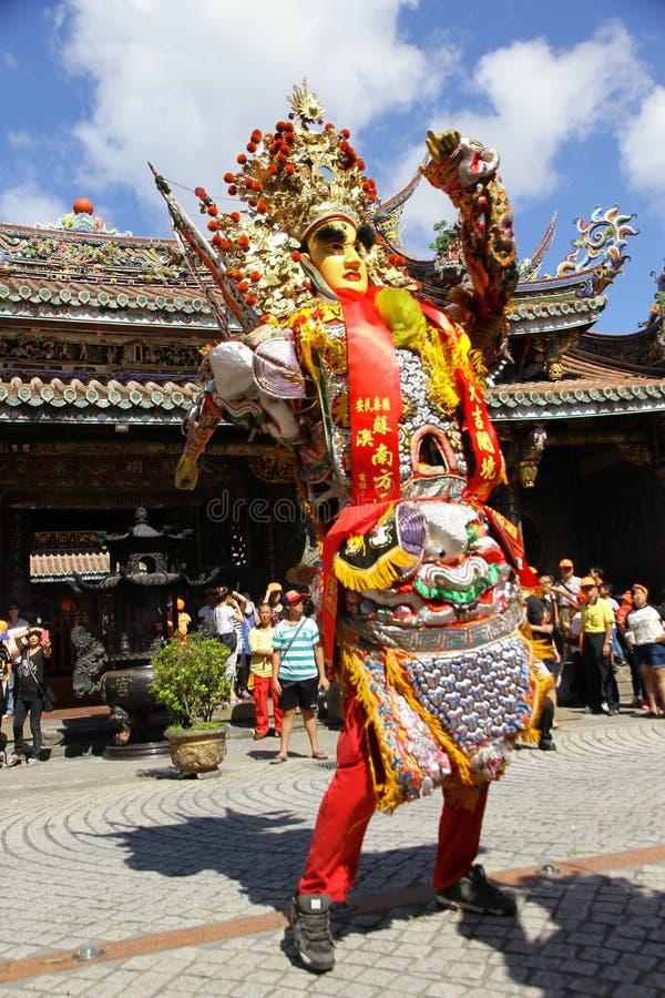 Taiwan folkkonst Sheng Jian en helgedomgeneral arkivbild
