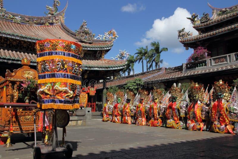 Taiwan folkkonst Sheng Jian en helgedomgeneral arkivfoto