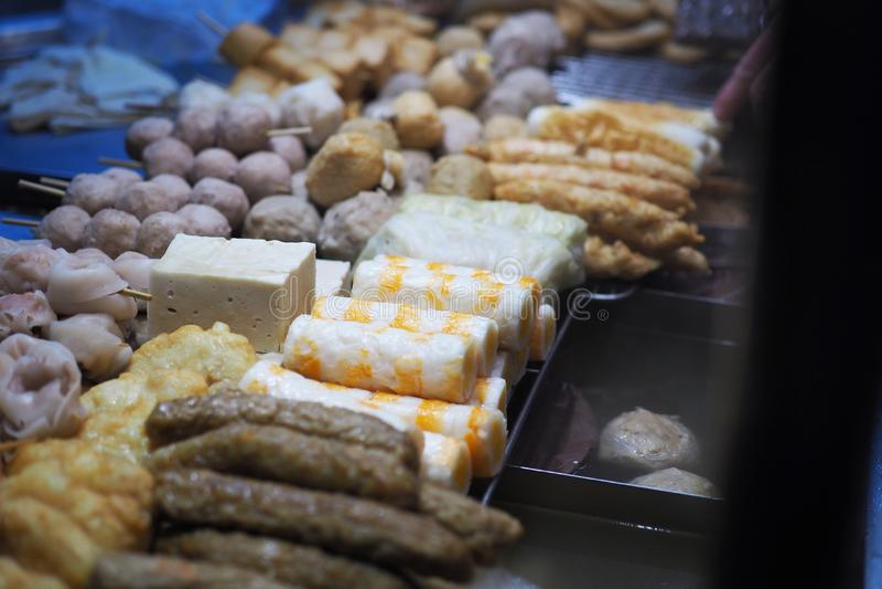 Taiwan gatamat Koka mat och soppa arkivbild