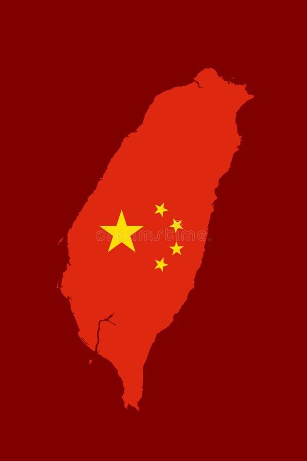 Taiwan is geïntegreerd in vasteland China stock illustratie