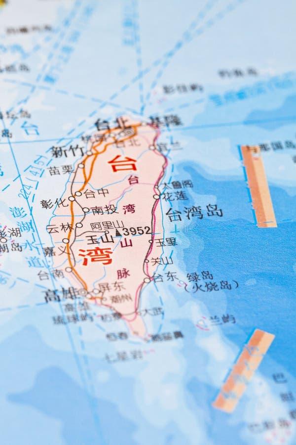 Taiwan-Kartenhintergrund stockfotografie