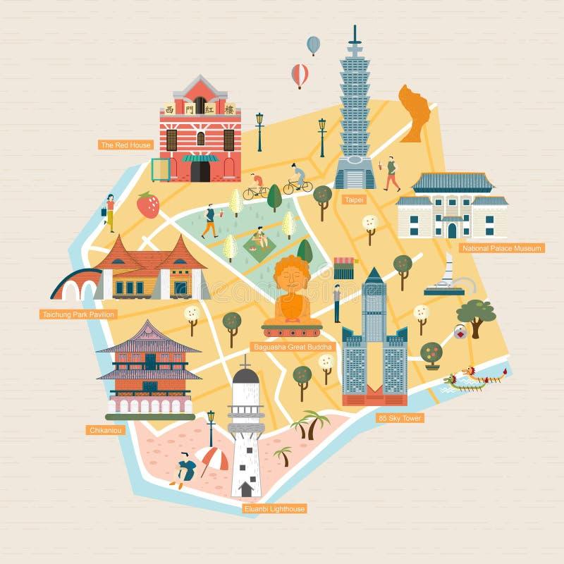 Taiwan loppbegrepp stock illustrationer