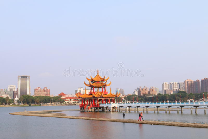 Taiwan : Lotus Pond stock photo
