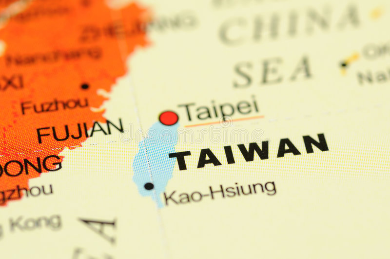 Download Taiwan on map stock photo. Image of taiwan, asia, world - 6838468