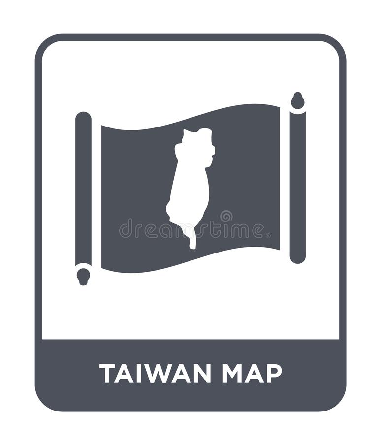 Taiwan map icon in trendy design style. taiwan map icon isolated on white background. taiwan map vector icon simple and modern. Flat symbol for web site, mobile vector illustration