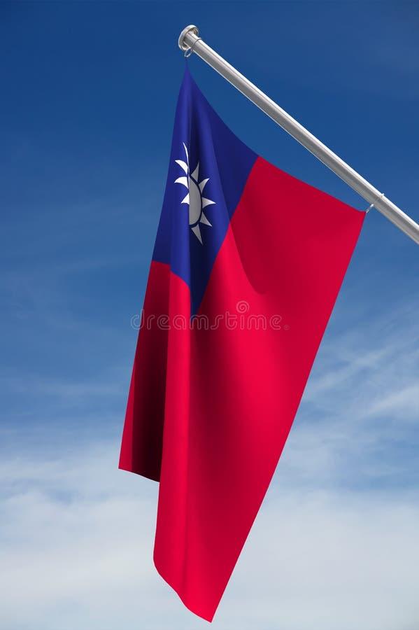Taiwan-Markierungsfahne stock abbildung