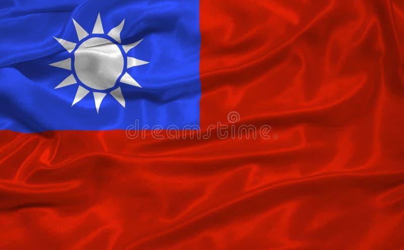 Taiwan-Markierungsfahne 3 stock abbildung
